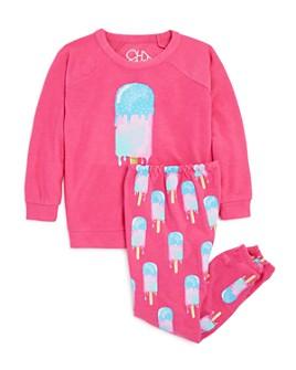 CHASER - Girls' Drippy Ice Cream Sweatshirt & Ice Cream Print Pants - Little Kid, Big Kid