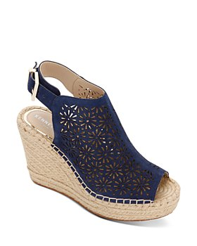 Kenneth Cole - Women's Olivia Perforated Espadrille Wedge Heel Sandals