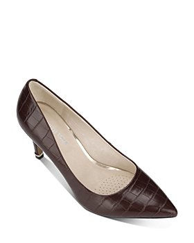 Kenneth Cole - Women's Riley Croc-Embossed Pumps