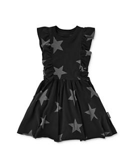 NUNUNU - Girls' Ruffled Star Print Dress - Little Kid, Big Kid