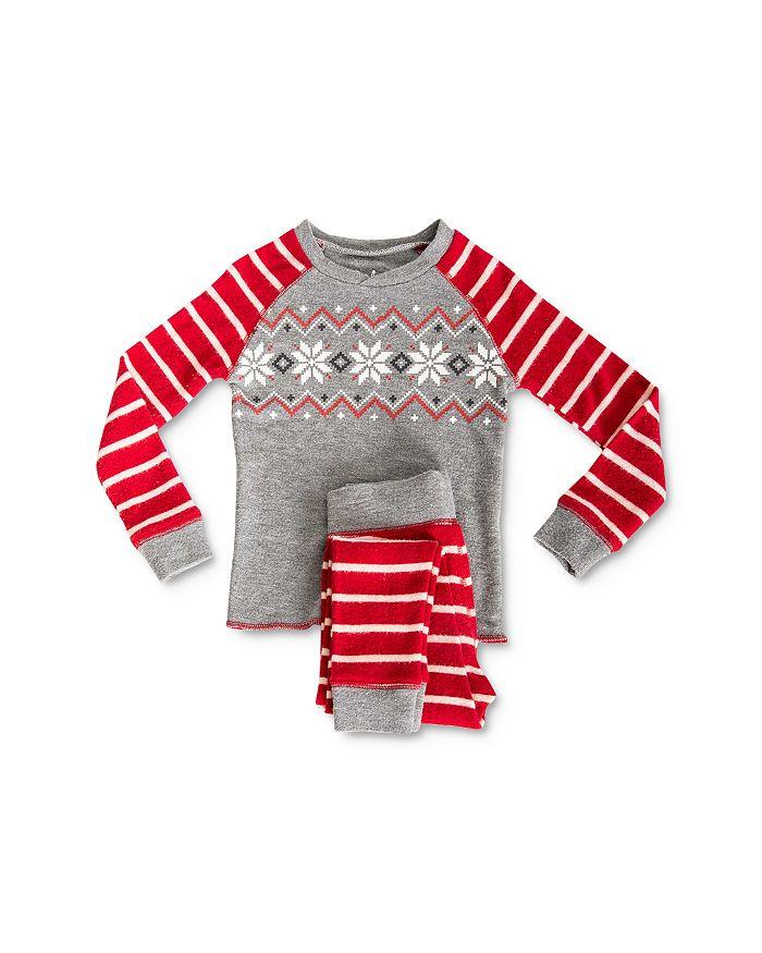 PJ Salvage - Unisex Ski Tee & Ski Pants Pajama Set - Little Kid, Big Kid
