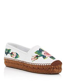 Dolce & Gabbana - Women's Floral Platform Espadrilles