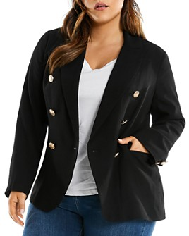 Estelle Plus - Double-Breasted Blazer