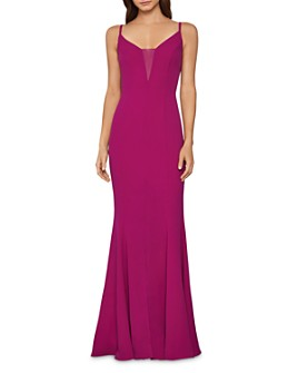 BCBGMAXAZRIA - Sheer-Inset Mermaid Gown