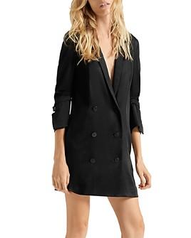 HALSTON - Tuxedo-Style Blazer Dress