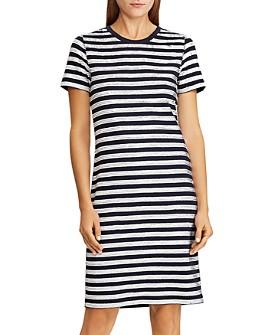 Ralph Lauren - Striped Sequined-Embellished Dress