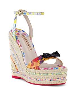 Sophia Webster - Women's Laurielle Floral Espadrille Platform Sandals