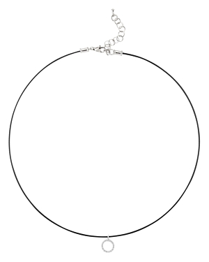 Alor Diamond Hoop Pendant Cable Necklace, 16
