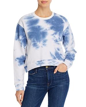 Aqua Tie-Dye Drop-Shoulder Sweatshirt - 100% Exclusive