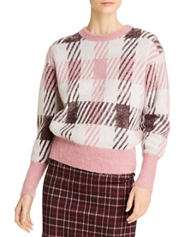 BOSS - Friedania Plaid Crewneck Sweater
