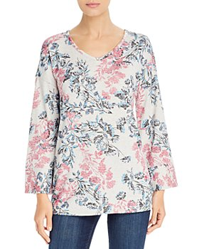 Cupio - Floral-Print Lightweight Sweater