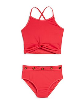 Habitual Kids - Girls' Contrast-Stitch Two-Piece Swimsuit - Little Kid
