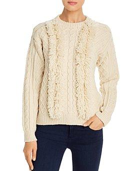 Tory Burch - Fringe-Trimmed Wool Sweater