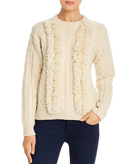 Tory Burch - Fringe-Trimmed Wool Sweater