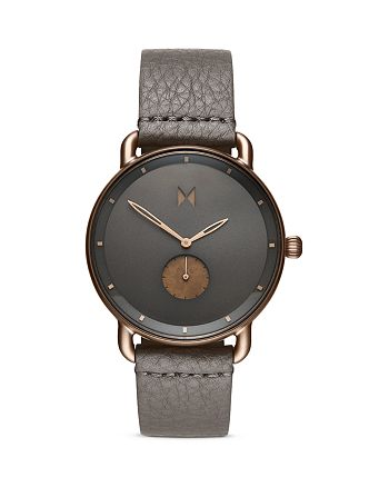 MVMT - Bronze Age Revolver Leather Strap Watch, 45mm