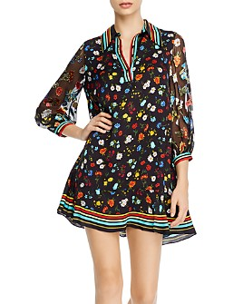 Alice and Olivia - Lalita Floral Mini Shirt Dress