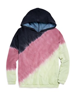 Vintage Havana - Girls' Color-Block Tie-Dye Hoodie - Big Kid