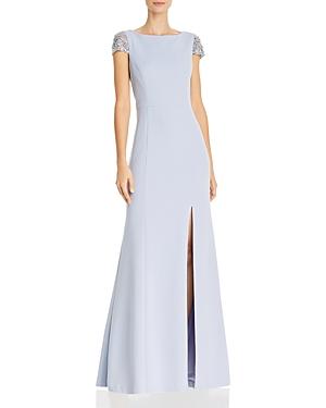 Eliza J Rhinestone Trimmed Gown-Women