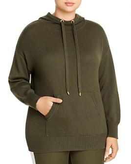 MICHAEL Michael Kors Plus - Sweater-Knit Hoodie