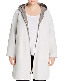 Eileen Fisher Plus - Reversible Hooded Rain Jacket