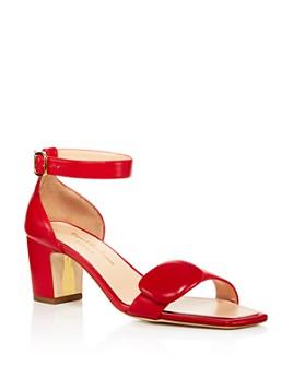 Rupert Sanderson - Women's Melissa Leather Block Heel Sandals