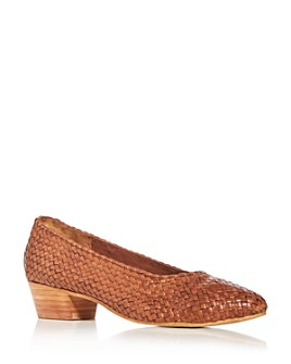 St. Agni - Women's Cisco Woven Low-Heel Pumps