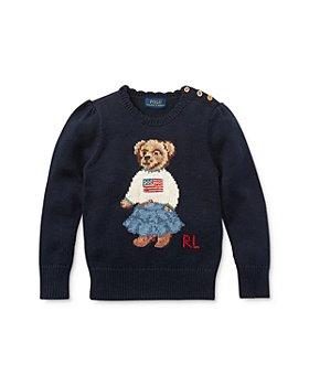 Ralph Lauren - Girls' Iconic Bear Sweater - Little Kid