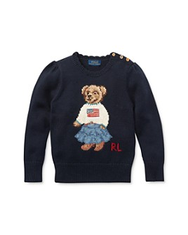 Ralph Lauren - Girls' Iconic Bear Sweater - Little Kid