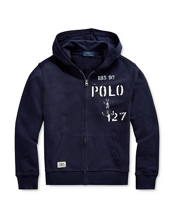 Ralph Lauren - Boys' Nautical Zip Hoodie - Big Kid
