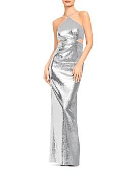 Aidan by Aidan Mattox - Sequin Halter Gown