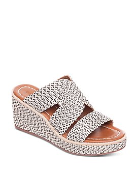 Bernardo - Women's Kaia Raffia Wedge Heel Sandals