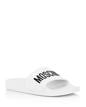 Moschino Women\\\'s Logo Pool Slides