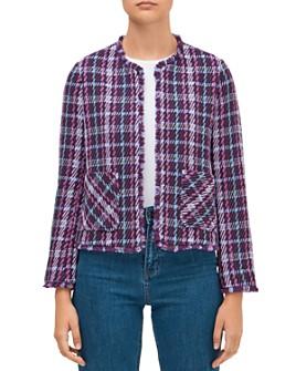 kate spade new york - Plaid Tweed Jacket