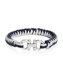 Salvatore Ferragamo - Gancini Woven Leather Bracelet
