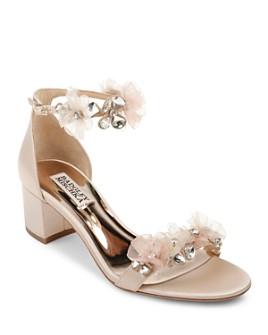 Badgley Mischka - Women's Candy Embellished Block Heel Sandals
