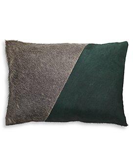 "Mitchell Gold Bob Williams - Two-Tone Calf Hair & Linen Pillow, 20"" x 14"""