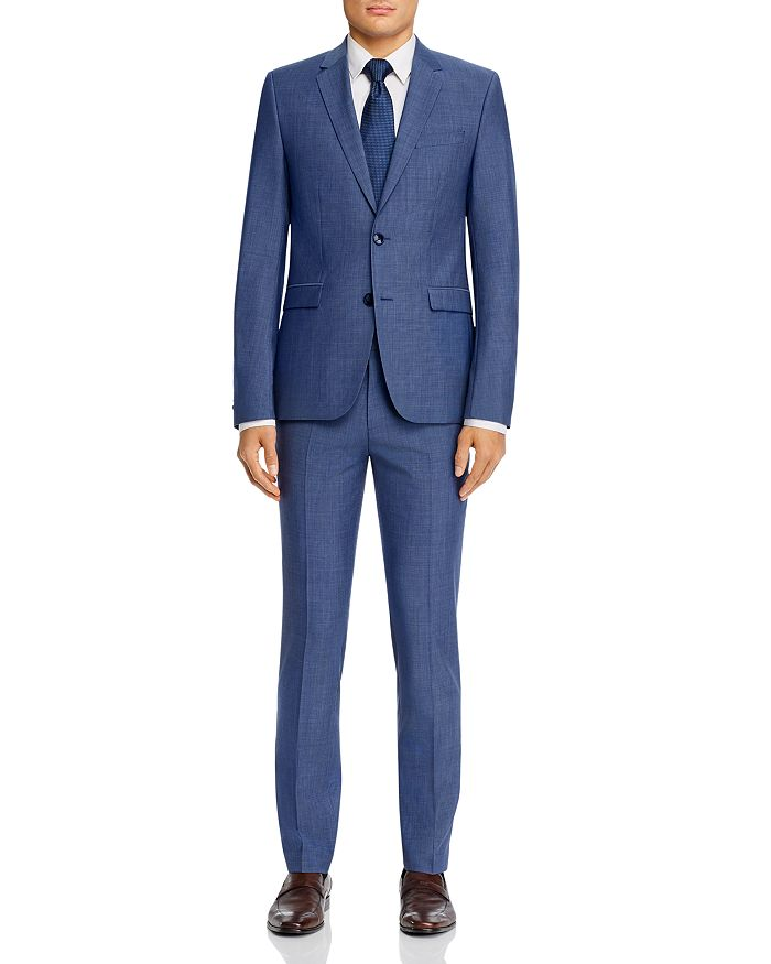 HUGO - Hets/Astian Micro Check Extra Slim Fit Suit Separates - 100% Exclusive