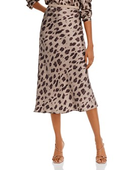 Anine Bing - Bar Animal Print Silk Midi Skirt