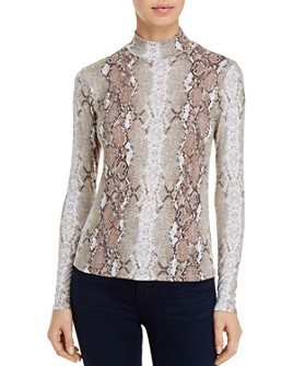 FORE - Snake Print Mock-Neck Top