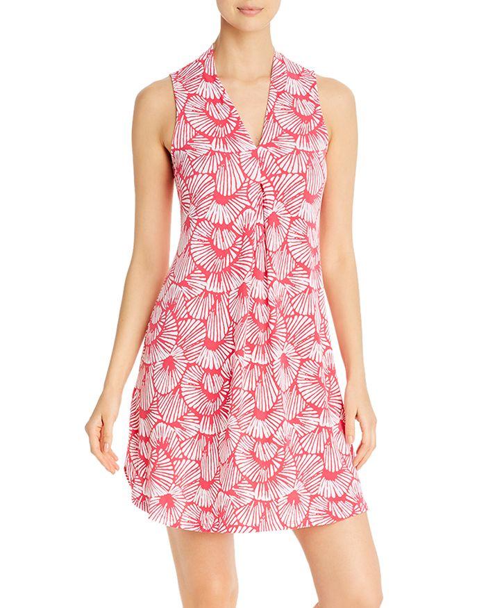Tommy Bahama SLEEVELESS SHELL-PRINT DRESS
