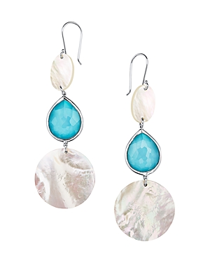Ippolita Sterling Silver Ondine Turquoise, Clear Quartz & Mother-of-Pearl Drop Earrings