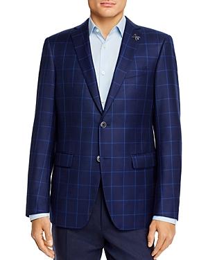 John Varvatos Star Usa Bleecker Windowpane Plaid Slim Fit Sport Coat-Men