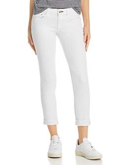 rag & bone - Dre Low-Rise Slim Boyfriend Jeans in White