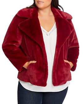 1.STATE Plus - Faux Mink Cropped Jacket