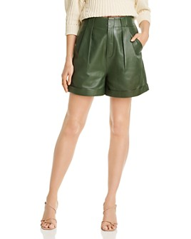 Equipment - Boyde High-Rise Leather Shorts