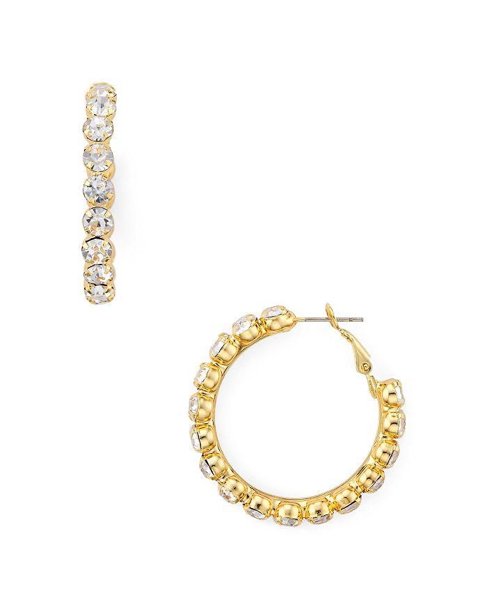 AQUA - Embellished Hoop Earrings - 100% Exclusive