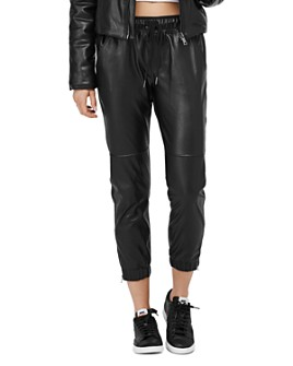David Lerner - Blake Faux Leather Jogger Pants