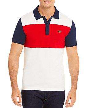 Lacoste - Color-Block Striped Slim Fit Piqué Polo Shirt