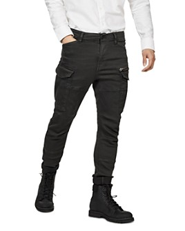 G-STAR RAW - Rovic Zip 3-D Skinny Fit Jeans in Asfalt
