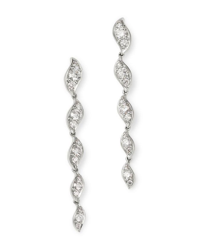 Bloomingdale's Pavé Diamond Drop Earrings in 14K White Gold, 0.87 ct. t.w. - 100% Exclusive  | Bloomingdale's